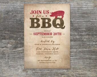 Rustic BBQ Invitations, Rehearsal Dinner, Birthday Barbecue (15)