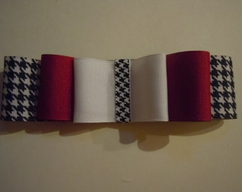 Alabama Crimson Tide Houndstooth Hair Bow Roll Tide