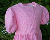 "Girls Pioneer Dress ""Katy"" Pink Confetti Floral"