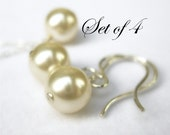 4 sets Custom Color Wedding Jewelry, choose sterling silver or gold filled for your bridal jewelry gift sets