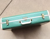 Vintage Luggage Turquoise Suitcase Towncraft