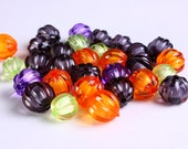 Dollar Sale Clearance - 30 Melon acrylic beads with DEFECTS - miracle bead - 30pcs (D0002)