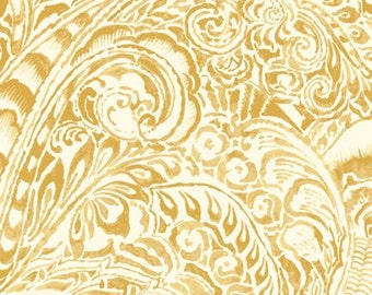 Gold Floral, Le Jardin by P & B Textiles, Yellow Floral Fabric, Floral Fabric, Gold Fabric, 1 yard fabric