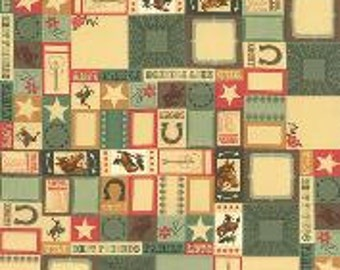 Honky Tonk by Moda, Guitar Fabric, Rodeo Fabric, 1 Yard Fabric