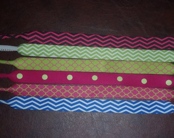 Chevron dot or lattice print Personalized Sunglass Strap