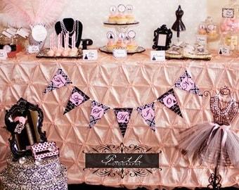 Paris Bridal Shower - Parisian Bridal Shower - PRINTABLE Personalized Package W/ Invitation - Wedding Shower