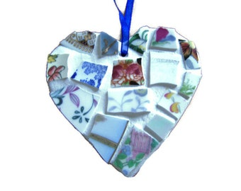Small Broken China Mosaic Heart
