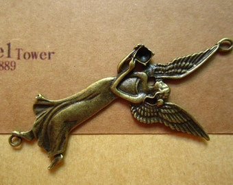 5pcs 83x41mm antique bronze angel charms pendant C4035
