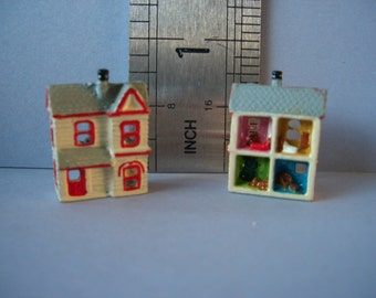 1:12th Tiny Dolls House Ornament incl. furniture for the Dolls House Nursery FREE SCALE