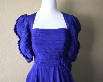 Vintage Cobalt Blue Cocktail dress