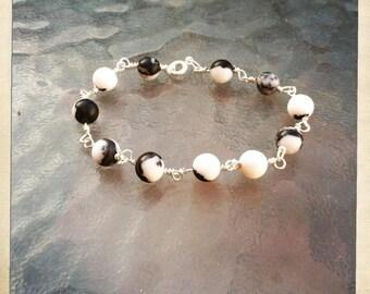 Beaded Bracelets with wirework