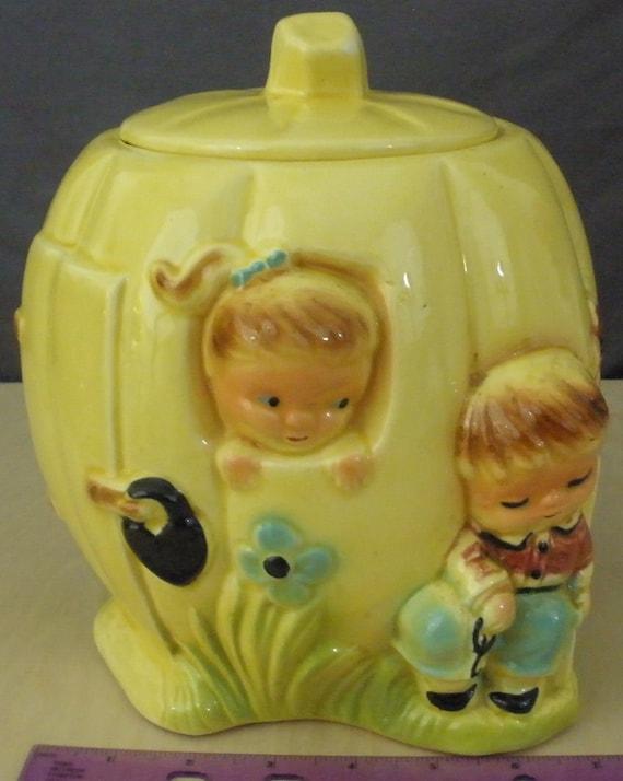 Peter Pumpkin-Eater Cookie Jar