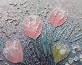 Original art pastel colors room decor  Eve Turner  Artist