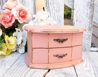Minty Aqua Shabby Chic Jewelry Box Armoire By
