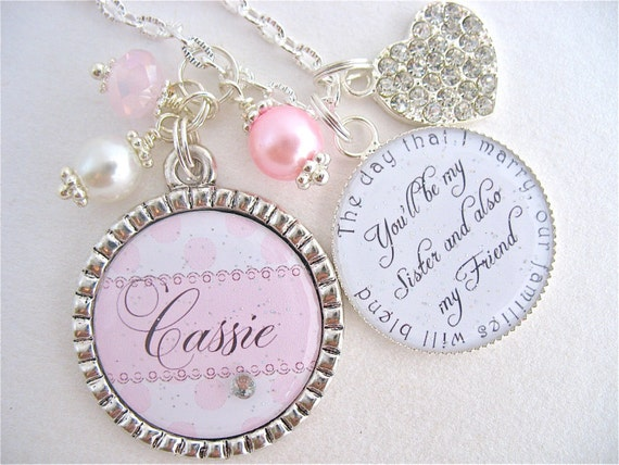 Wedding Gift For Sister Of The Bride : ... Dot Wedding Gift engagement jewelry Mother of the bride Sister In-Law