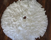 White Christmas Tree Skirt French Country Christmas
