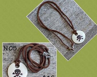 SALE - N05 skull and crossbones necklace