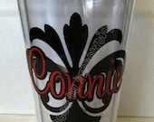 Personalized Damask Tumbler Cup. Great gift idea.