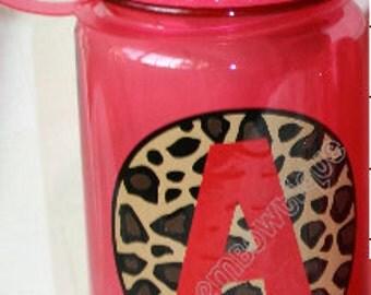 Leopard Print Personalized Kids Water Bottle