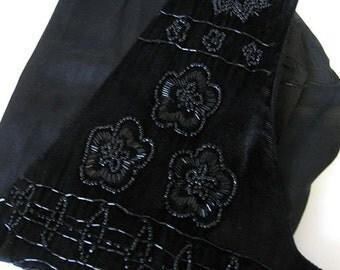 Vintage beaded vest.  Ladies clothing.  Small.