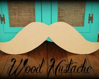 Giant Wood Mustache decor- Wood Mustache-  Little Man- Little Man Party- Mustache party- Mustache decorations