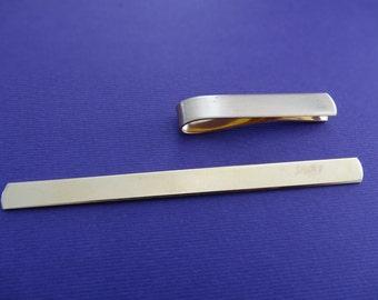 qty 10 Slide on tie bar clip blank 18 Gauge Brass qty 10