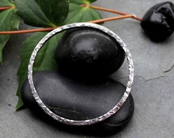 Sterling silver, hammered Bangle