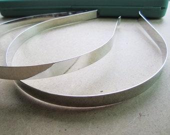 3pcs sliver 10mm flat stainless steel headband