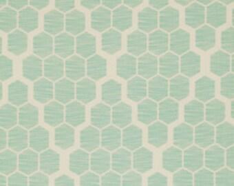 "Bungalow SATEEN - Hive in Mint - SAJD024.MINTX - 54"" wide - 1/2 Yard"