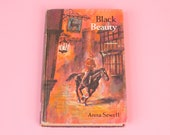 Vintage Black Beauty Book Anne Sewell Mid Century Illustrations Unabridged Whitman Library Classics 1965