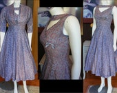 Gorgeous 1950s Periwinkle Prom Dress with Matching Bolero Jacket Great Condition Mad Men Party Dress Rockabilly Lucy Dress Wedding Dress