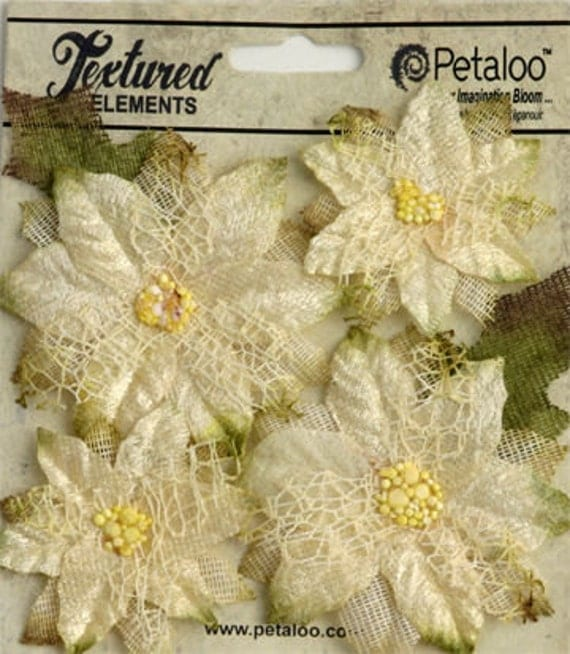 30% OFF TODAY ONLY - Petaloo - Textured Collection - Blossoms - Ivory