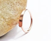 14K Rose Gold Filled Cartilage Hoop Earring, 20 Gauge Pink Gold Nose Ring, Hammered End Hoop, Helix Piercing Hoop