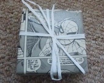 Spiderman coasters  // Recycled Vintage Comic Book Coasters
