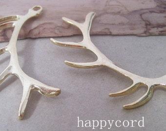 10pcs  Gold color deer antlers charm 18mmx60mm