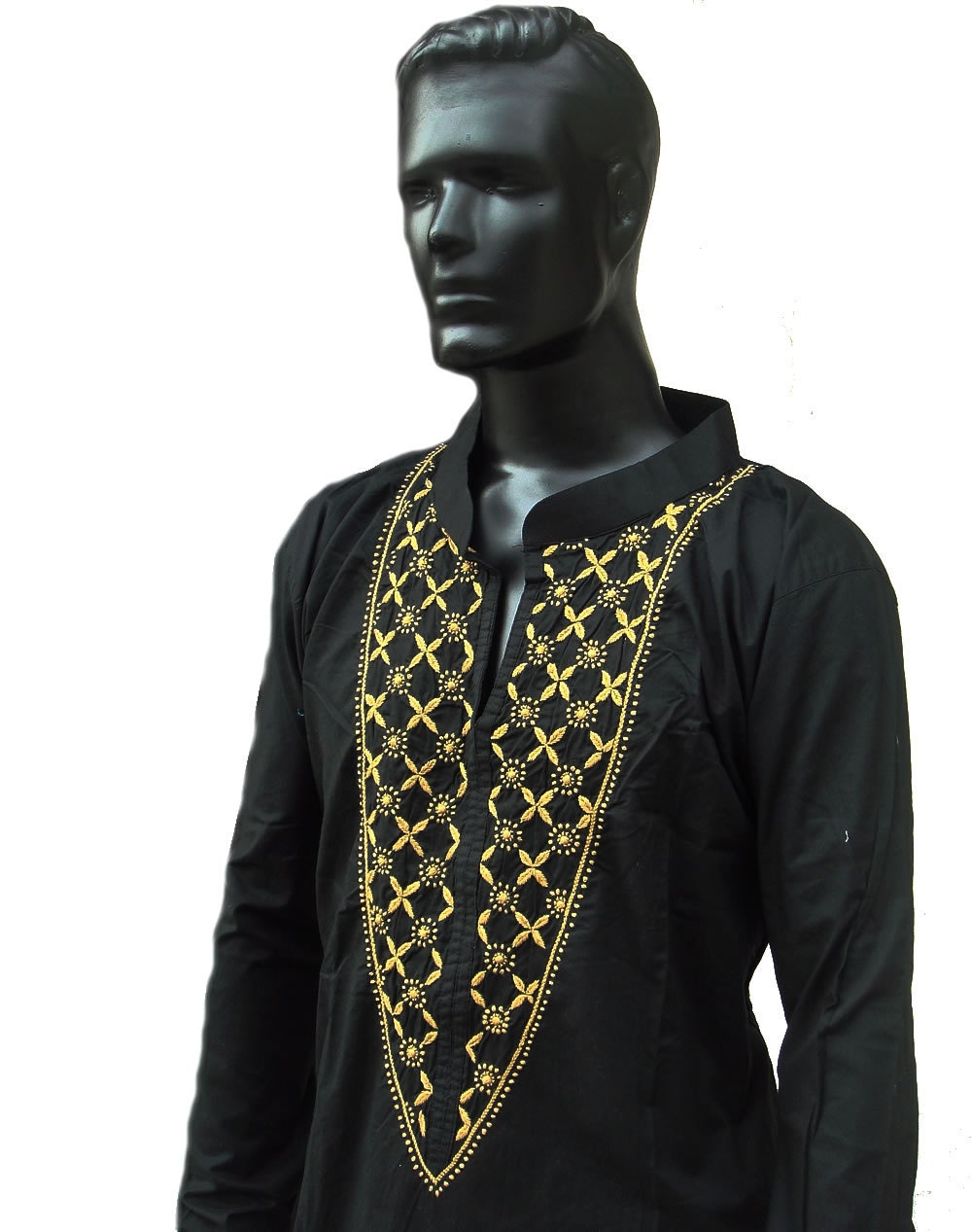 Christmas gifts for mens kurta black dress by kurtitunicbybhagya