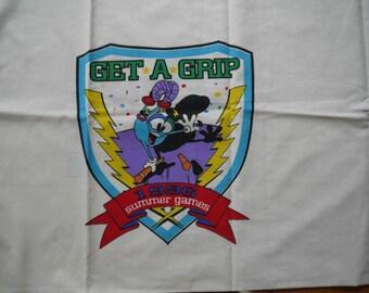 1996 Olympics Pillowcase with Izzy Mascot Basketball Sports Theme
