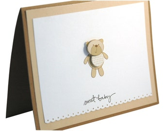 Baby Shower Card, Welcome Baby, New Baby Card, Congratulations Baby Card
