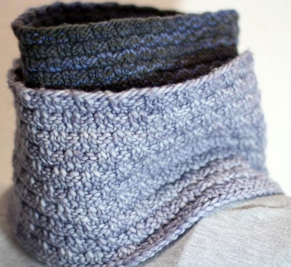 Cowl Knitting Pattern One Skein : Items similar to Original Knitting Pattern, One Skein Cowl, Swedish Basket We...