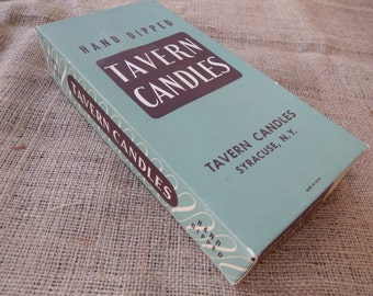 Vintage Tavern Candles - Unopened Candles -  Box of 12 from Syracuse, N.Y