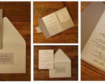 Custom Wedding Invitations - Deposit
