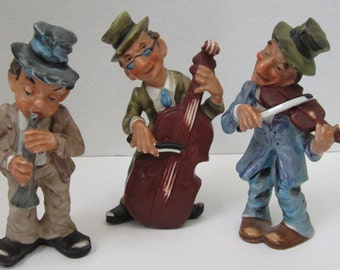Ucagco Ceramic's Three Musican's Japan Handpainted Collectible c1950s