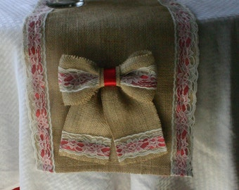 Burlap Christmas runner