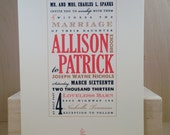 Wedding Invitation / Southern / Modern Hatch / Marriage / Printed Custom Invitation / Country / Fun Party Card by Darby Cards