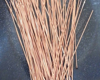 2 Inch x 24 Gauge Solid Copper Head Pins