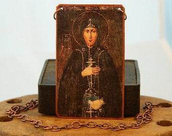 Saint Jewelry Saint Necklace Saint Sophia of Suzdal