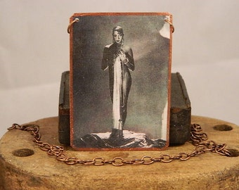 Josephine Baker necklace mixed media jewelry music dance
