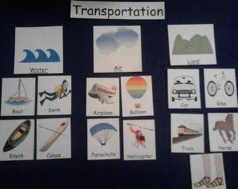 Transportation Felt/Flannel Board Set, Preschool/Kindergarten, Grouping, Sorting, Kids Toys, Toddler Toys, Learning, Educational Toys
