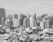 Metropolis - San Francisco Cityscape Photography, Black and White Wall Art, Urban Landscape, Architecture in Gray