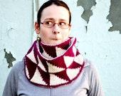 PAUKA double knitting scarf pdf knitting pattern ebook